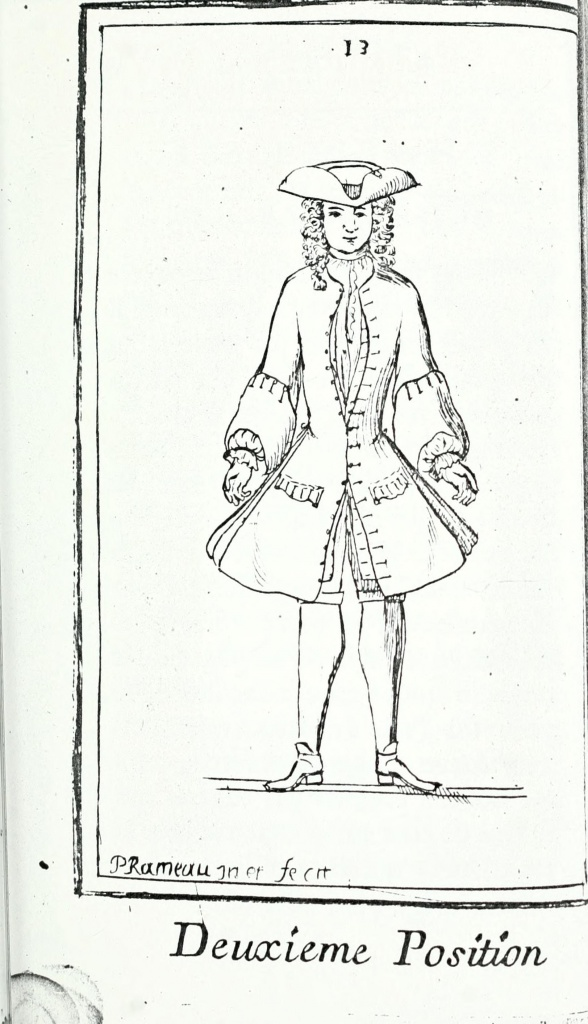 Рис. 7. Deuxieme position [Rameau 1725: 13].