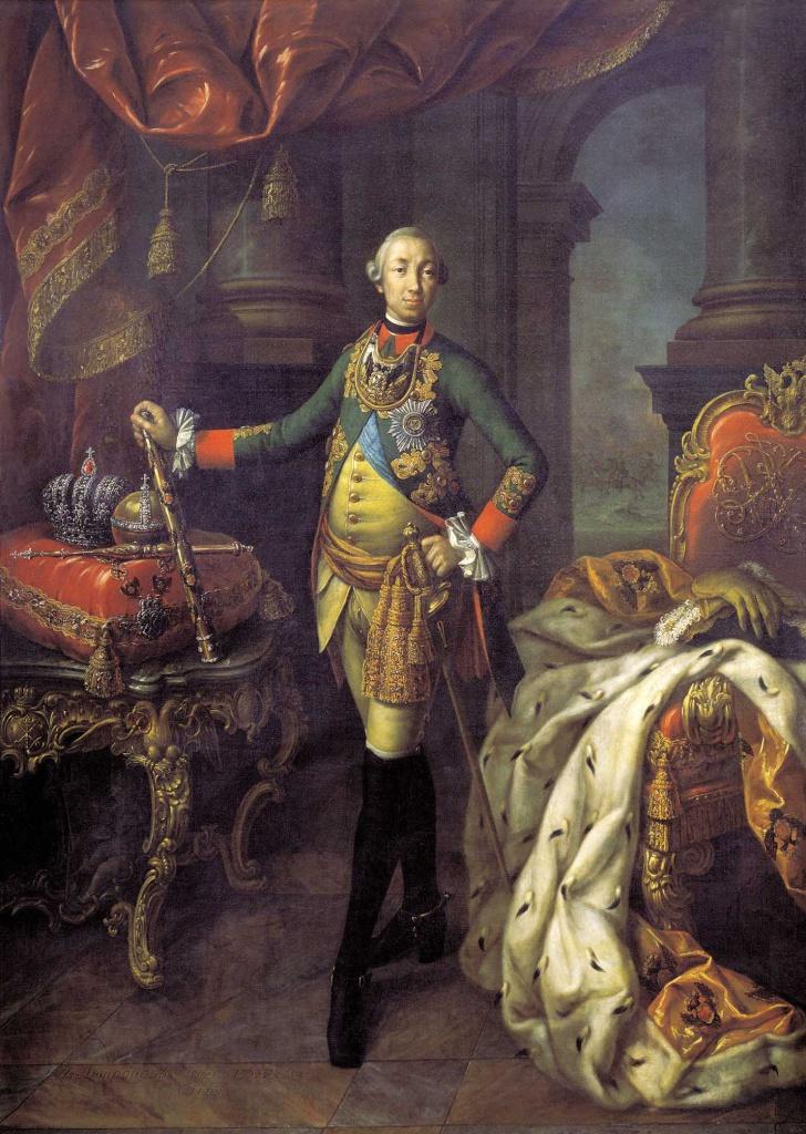 Рис. 10. Алексей Антропов. Портрет Петра III. 1762. Русский музей, Санкт- Петербург, 2018.