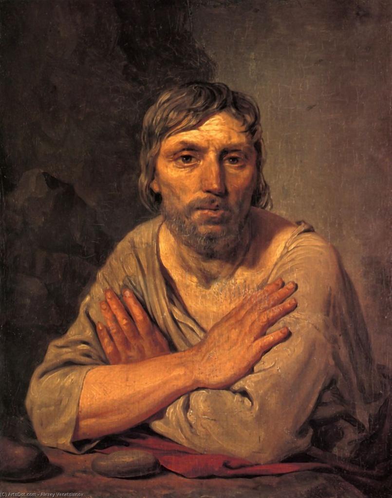 Ил. 2. А.Г. Венецианов. Крестьянин со скрещенными руками. © Государственный Русский музей, Москва